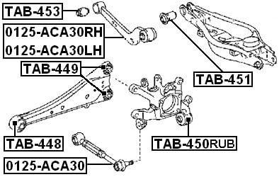 FEBEST TAB-450RUB Suspension de v/élo