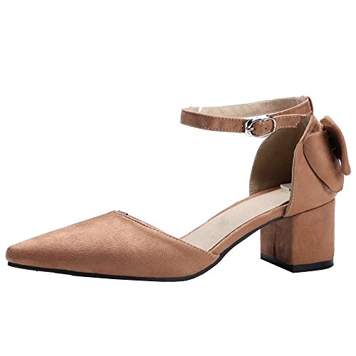 Sandals Ankle Women Elegant Heels Strap Coolcept Brown fqIEwz