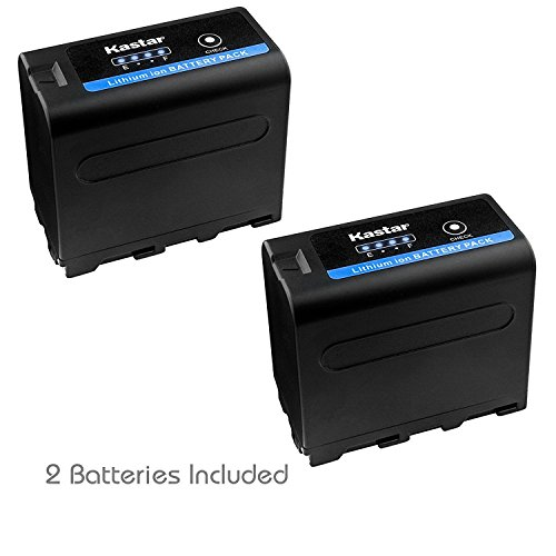 Kastar Battery 2 Pack for Sony NP-F970 Pro NP-F990 NP-F975 NP-F970 NP-F960 NP-F950 NP-F930 NP-F770 NP-F750 NP-F730 NP-F570 NP-F550 NP-F530 NP-F330 Battery, Sony Camcorder and LED Video Light by Kastar