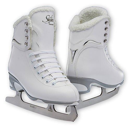 Jackson JS 181 SoftSkate Girls Figure Ice Skates (Fleece, 3)