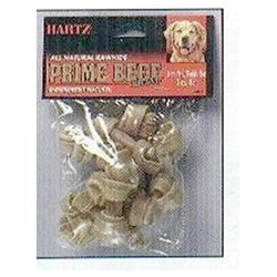Hartz Rawhide Bones 3 In. Natural Flavor 4 / Pack by HARTZ