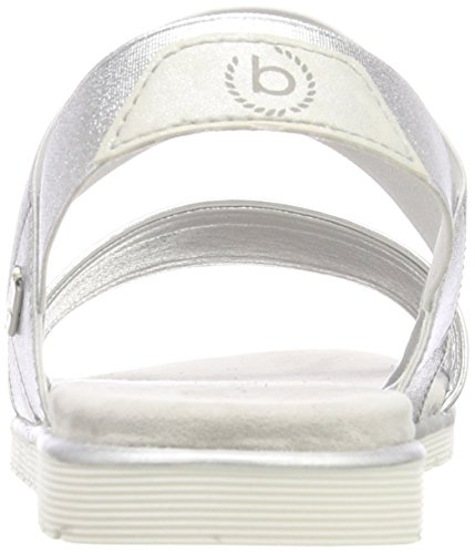 Bugatti 411478805900, Sandales Bride Cheville Femme Argent (silver)