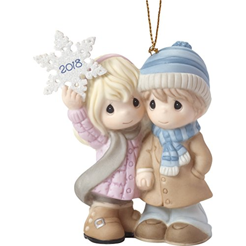 """Precious Moments""""Our Our First Christmas Together 2018"""" Couple Ornament, Multicolor"""