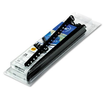 4090034 GBC Standard CombBind 90-Sheet Spines (Pack of 25) [Set of 2]
