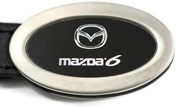dantegts Mazda6 Mazda 6 Negro Llavero ovalado de piel ...
