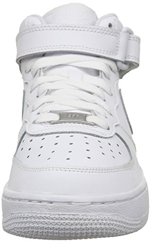 Blanco Nike Baloncesto Air 1 Force Niños Zapatillas de Mid White GS RaFO4wRx