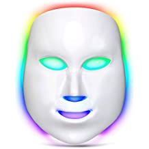 Lacomri 7 Color LED Light Therapy Acne Mask - Skin Rejuvenation - Anti Aging - Reduce Wrinkles - Face Care Treatment - Photon Lights - Best Home And Professional Facial Beauty Device