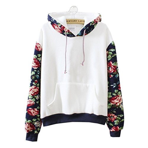 Cute Hoodies Sweater Pullover Flowers