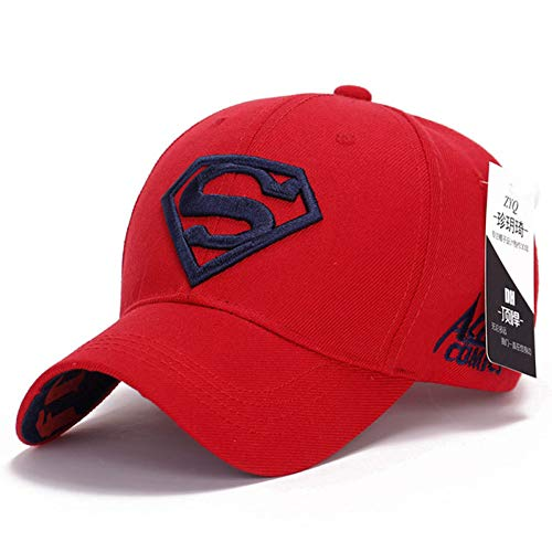 MEISUWANG Baseball Cap Women Men Superman Baseball Cap Fashion Unisex Golf Solid Embroidery Trucker Hat Men Female Adjustable Snapback ()