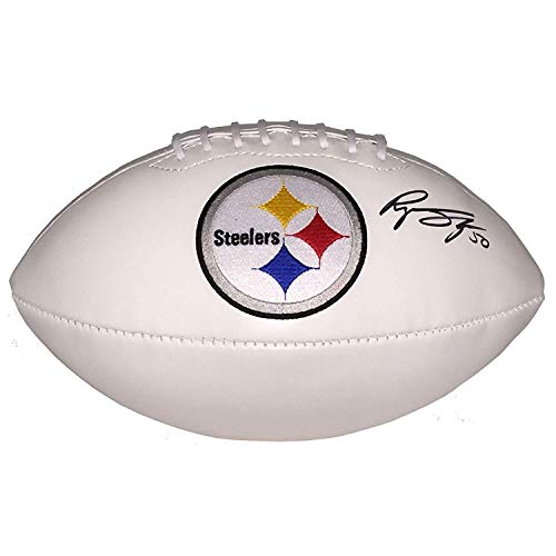 Ryan Shazier Hand Autographed/Signed Pittsburgh Steelers Logo Football - Certified Authentic ()