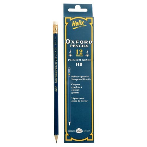 Oxford HB Rubber Tipped Pencils - Pack of 12 (P36010)