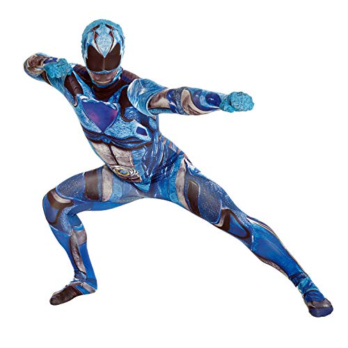 Power Rangers Samurai Halloween Costumes (Official Blue Deluxe Movie Power Ranger Morphsuit Fancy Dress Costume - size Large 5'3 - 5'9 (159cm -)