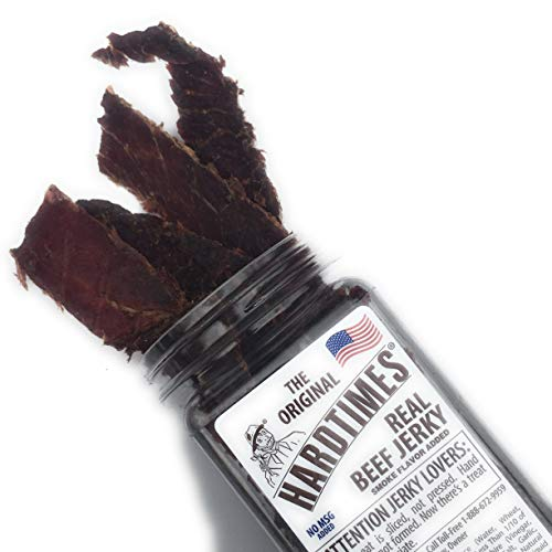 HARD TIMES 8oz Jar Original Real Beef Jerky Sliced Hand Trimmed Dry Tough Jerky For HardTimes by hard times (Image #1)
