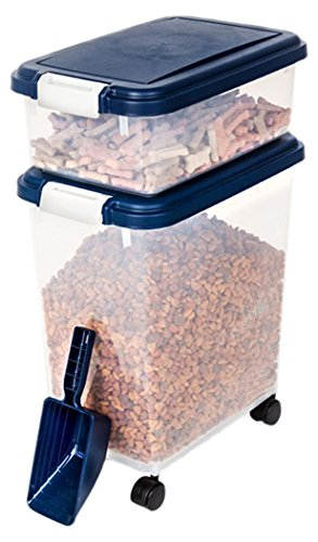 Cheap Myriad Pet Solutions 3 Piece Pet Food Storage Bin with Scoop, Blue