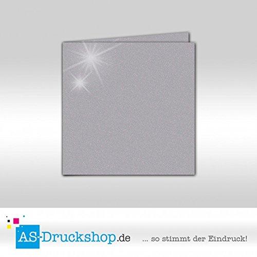 Faltkarte - Turmalin - mit glänzenden Partikeln 100 Stück Quadratisch 155 x 155 mm
