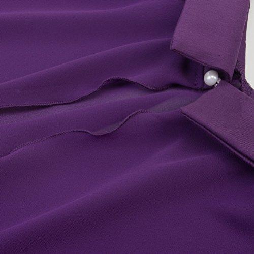 Flared Cute Women's Piece Dress Sling yangelo Doll Shawl Suit Short Purple Collar Two Sleeve 6PdttqwY