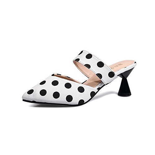 cheap Women Comfy Kitten Low Heel Mules Slip on Clog Sandals Open Toe Dress Pumps Slide