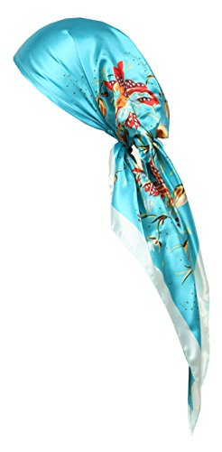 Love Lakeside-Women's Silk Feel, Pre-tied, Printed, Fitted Headscarf (One, Floral 5) (Gypsy Head Scarf)
