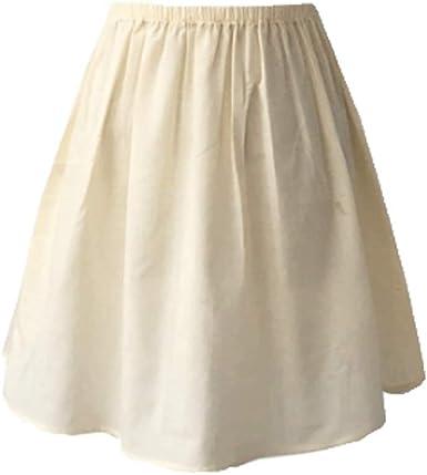 BOLAWOO-77 Falda De Algodón De Las Mujeres Enagua De Crinolina Mode De Marca Negro Marfil Corto Largo De La Vendimia Corto Antiestático Ropa Interior Mujer: Amazon.es: Ropa y accesorios