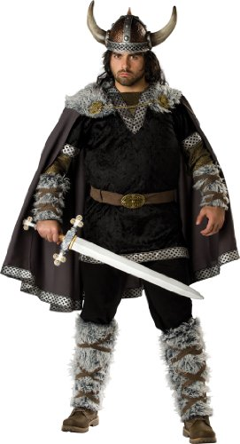 [InCharacter Costumes Men's Plus Size Viking Warrior Costume, Black/Gold, XXX-Large] (Viking Costume Boots)