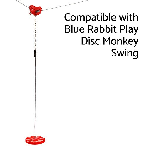 Blue Rabbit Play Falcon Zip Line Kit, Red by Blue Rabbit Play (Image #5)
