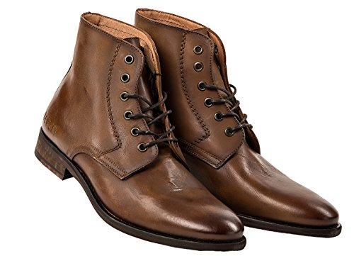 Zapatos de cuero de los hombres Replay, botines Hombres Craig talla 41-46 - Brown: : 10 UK