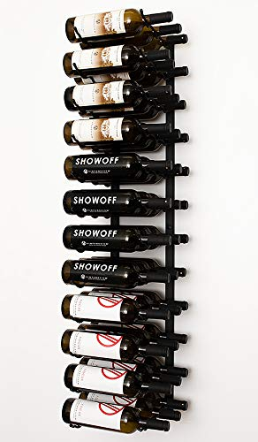 19ad8e6988 Image Unavailable. Image not available for. Color: VintageView Wall Series-  36 Bottle Wall Mounted Wine Rack (Satin Black) Stylish Modern