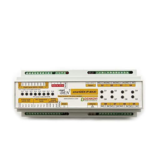 (Denkovi Assembly Electronics Ltd smartDEN Maxi - I/O Relay Module SNMP, HTTP with DIN Rail Box 24V)
