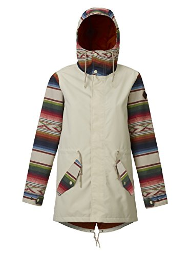 Burton Women's Sadie Rain Jacket, Canvas/Canvas Iris Stripe, Medium