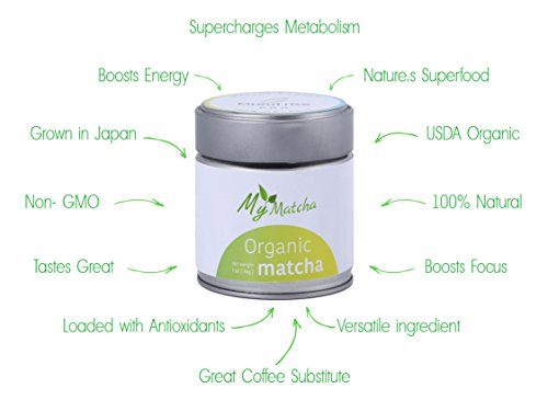 Ceremonial Organic Matcha, Green Tea Powder, Authentic Japanese Origin, Perfect Culinary (Baking, Smoothies, Latte, Iced tea) - Antioxidants, Energy, Weight Loss,by HowToGreen, 30g