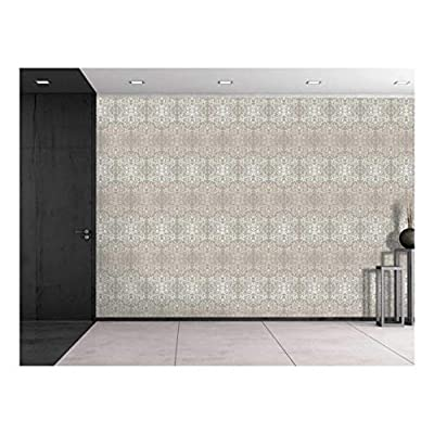Large Wall Mural - Damask Seamless Floral Pattern | Self-Adhesive Vinyl Wallpaper/Removable Modern Decorating Wall Art - 100
