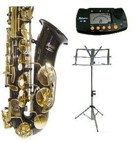 E Flat Black Alto Saxophone with Case,Mouth Piece,Black Music Stand+Metro Tuner by Merano (Image #3)