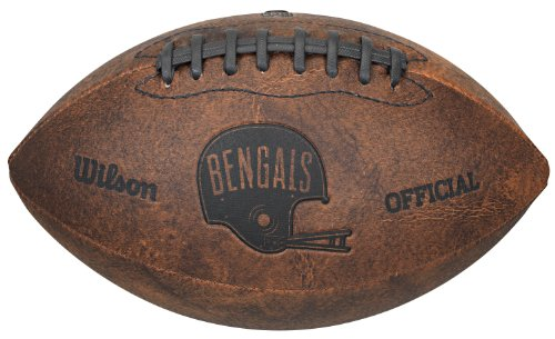 NFL Cincinnati Bengals Vintage Throwback Football, 9-Inches