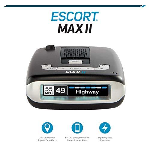 Escort MAX II Platinum Radar Detector with Bluetooth, GPS, Black