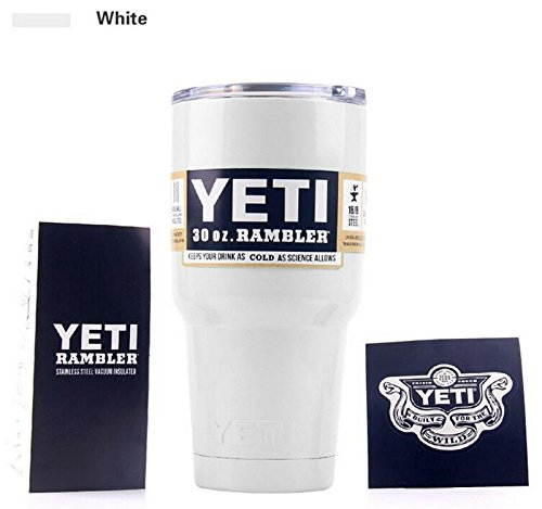 Colorful Bilayer 304 Stainless Steel Insulation Cup 30OZ YETI Cups Cars Beer Mug Large Capacity Mug Tumblerful (white)
