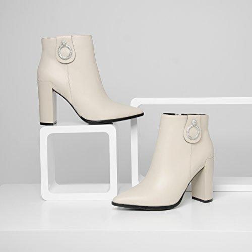hexiajia ,  Damen Stiefel Weiß