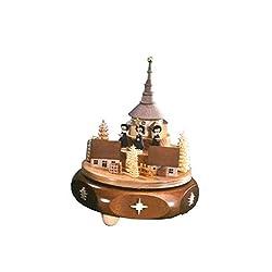 ISDD Cuckoo Clocks Mechanical music box Seiffen church, silent night, original Erzgebirge by Richard Glaesser Seiffen