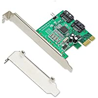 Simply Silver - IOCrest PCIe 1 Interface 2-Port Internal SATA Controller Card 88SE9120 Chipset