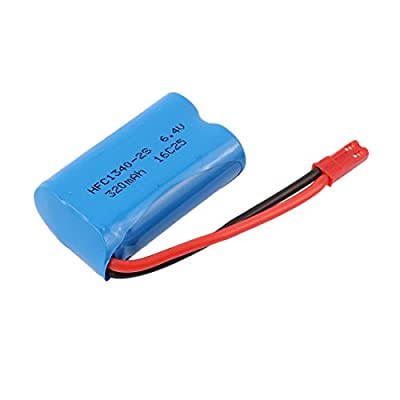 uxcell 6.4V 320mAh Rechargeable Li-ion Lithium Battery for WL L333 L343 RC Helicopter from uxcell