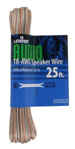 (Leviton X3301-25C 25-Foot 18/2 Gauge Speaker)
