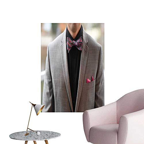 Print Freestyle Bow Tie - SeptSonne Modern Decor Grey Tuxedo Black Shirt Bow tie Ideal Kids Decor or Adults,32