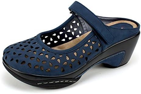 RIALTO Shoes Vienna Women's Clog, Navy