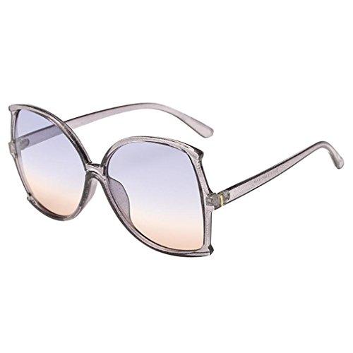 Women Man Vintage Big Frame Irregular Shape Sunglasses Retro Unisex By ()