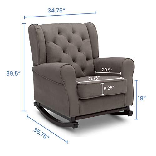 41Hp6ll5 eL - Delta Children Emma Upholstered Rocking Chair, Graphite