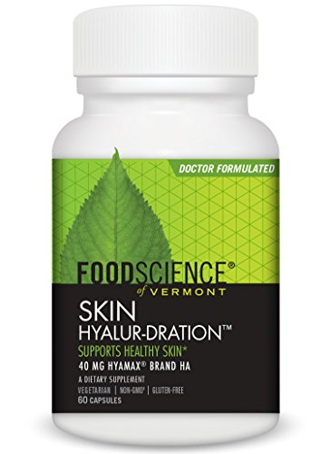 FoodScience of Vermont Skin Hyalur-Dration, Skin and Joint Support Supplement Capsules, 60 - Science Acid Hyaluronic Food