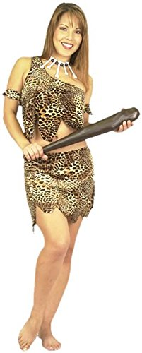 BOS Adult 2 PC Sexy Cavewoman Costume, Size X-Large ()