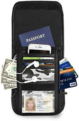 トラベルウォレット ミニ ネックポーチトラベルポーチ ポータブル カモフラージュ 迷彩 小さな財布 斜めのパッケージ 首ひも調節可能 ネックポーチ スキミング防止 男女兼用 トラベルポーチ カードケース