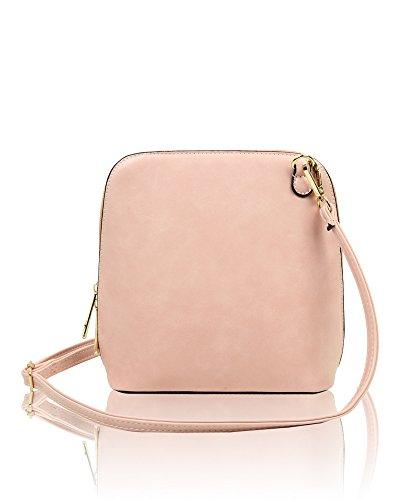 Chic 19 x x Faux 8cm 20cm Crossbody Vintage redfox Women's 5cm Vintage Bag Shoulder Leather Pink Small wxPE716Y