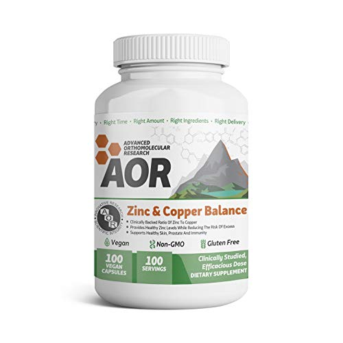 Advanced Orthomolecular Research - ZINC AND COPPER BALANCE, 100 Count