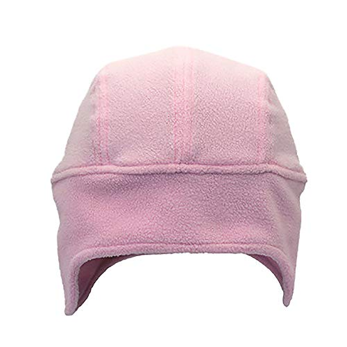 Price comparison product image AMSKY Hat for Baby Boy, New Outdoor Couple Models FleeceRiding Hat Fleece Pullover Earmuffs, Women's Accessories, Pink, One Size